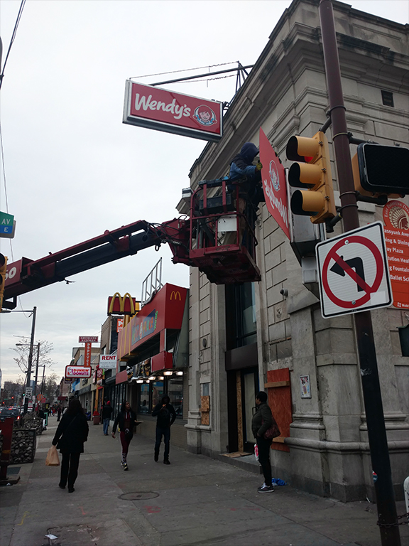 Wendys at Broad and Snyder in South Philadelphia - photo by Richard Everill III for Passyunk Post
