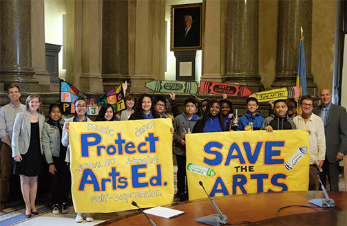 Eliza Kirkbride students visit City Council to promote Philadelphia Arts Advocacy Week