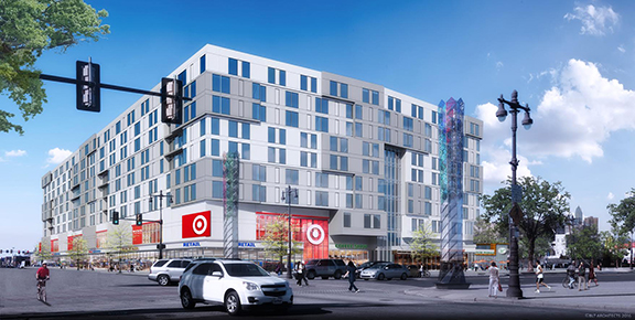 Lincoln Square Target Broad and Washington in South Philadephia - drawing